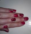 Shellac Wildfire with 2 Rockstar fingers